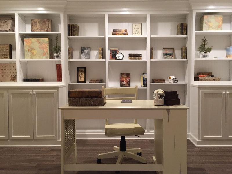 Built In Office Bookshelves Am